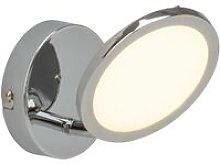 Endon - 1 Light Spotlight Chrome, Opal Ps Plastic