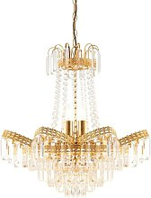 Endon Adagio - 9 Light Chandelier Glass Beads &