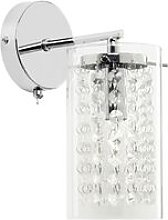 Endon Alda - 1 Light Wall Light Chrome with Clear