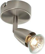 Endon Amalfi - 1 Light Spotlight Satin Nickel, GU10