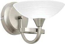 Endon Cagney - 1 Light Wall Light Satin Chrome