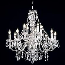 Endon Clarence - 12 Light Chandelier Acrylic &