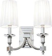 Endon Domina - Indoor Candle Wall Lamp Nickel with