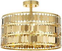 Endon Eldora - 3 Light Flush Light Gold Effect