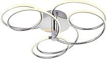 Endon Eterne - LED Semi Flush Light Chrome Plate &