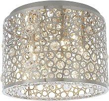 Endon Fayola - 5 Light Flush Light Chrome Plate &