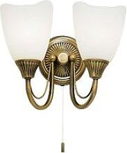 Endon Haughton - 2 Light Indoor Wall Light Antique