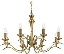 Endon Kora - 8 Light Chandelier Antique Brass