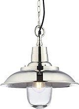 Endon Lighting Langley - Pendant Bright Nickel