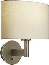 Endon Lighting - Wall Lamp Antique Bronze Plate,
