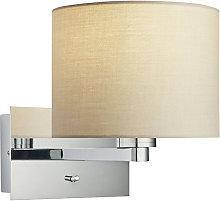 Endon Lighting - Wall Lamp Chrome Plate, Taupe