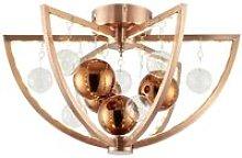 Endon Muni - 1 Light Flush Ceiling Light Copper