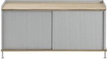 Enfold Low cabinet - / Steel & Oak by Muuto