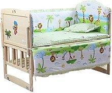 eng hong hui 5pcs Baby Bed Bumpers Pure Cotton