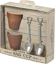 England At Home - Flower Pot and Shovel Egg Cup