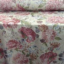 English Country Garden Vintage Peonies Linen
