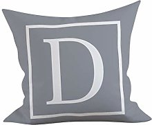 English Letter Pillowcase, Alphabet Cushion