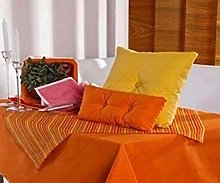 English Linen Cotton Table Cloths (13 Dark Orange,