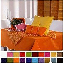 English Linen Cotton Table Cloths (14 Fuschia, SQR