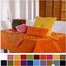 English Linen Cotton Table Cloths (7 Mustard,