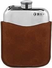 English Pewter Company Captive Top Hip Flask and