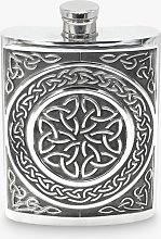 English Pewter Company Celtic Hip Flask