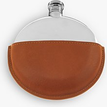 English Pewter Company Ellipse Hip Flask with
