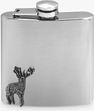 English Pewter Company Stag Hip Flask