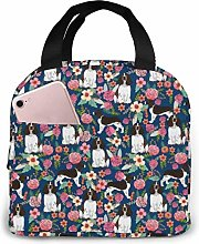 English Springer Spaniel Floral Dog Lunch Bag