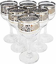 Engraved and Decorated Stemmed Shot Glasses 60ml -