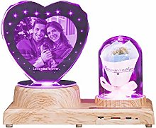 Engraved Photo Crystal Night Light with Name