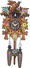 Engstler Quartz Cuckoo Clock 5 leaves, bird, with
