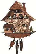 Engstler Quartz Cuckoo Clock Black Forest house