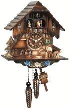 Engstler Quartz Cuckoo Clock with Musik Black