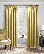 Enhanced Living Matrix Ochre, Tape Top Curtain,