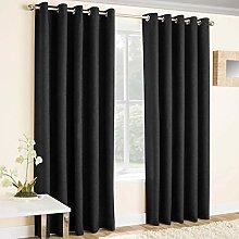 Enhanced Living Vogue Black, Eyelet Curtain,