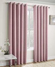 Enhanced Living Vogue Blush, Eyelet Curtain,