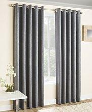 Enhanced Living Vogue Grey, Eyelet Curtain, Ring
