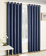 Enhanced Living Vogue Navy, Eyelet Curtain,