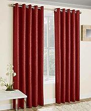 Enhanced Living Vogue Red - Eyelet Curtain,
