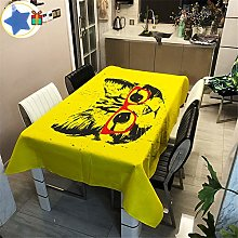 Enhome Table Cloth Waterproof Rectangle, 3D Animal
