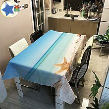 Enhome Table Cloth Waterproof Rectangle, 3D Sea &