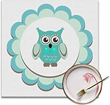 Enhusk Set Of 4 Dining Table Mat Cute Baby Owl