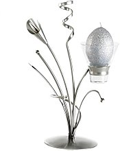 Enigma Supplies Silver Metal Candle Holder   Free