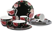 Enjoy Roses 16 Piece Dinnerware Set, Service for 4