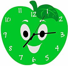 Enjoy Your Time Apple-a-day Kitchen Wall Clock