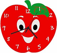 Enjoy Your Time Apple-a-day Kitchen Wall Clock Red