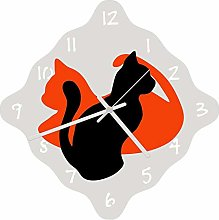 Enjoy Your Time Cat Lovers Wall Clock 32cm (e9619)