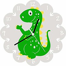 Enjoy Your Time Dinosaur Childrens Wall Clock