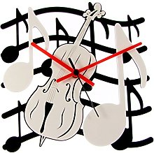Enjoy Your Time Music Theme Cello Wall Clock